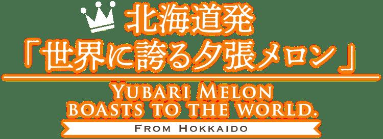 北海道発「世界に誇る夕張メロン」YUBARI MELON